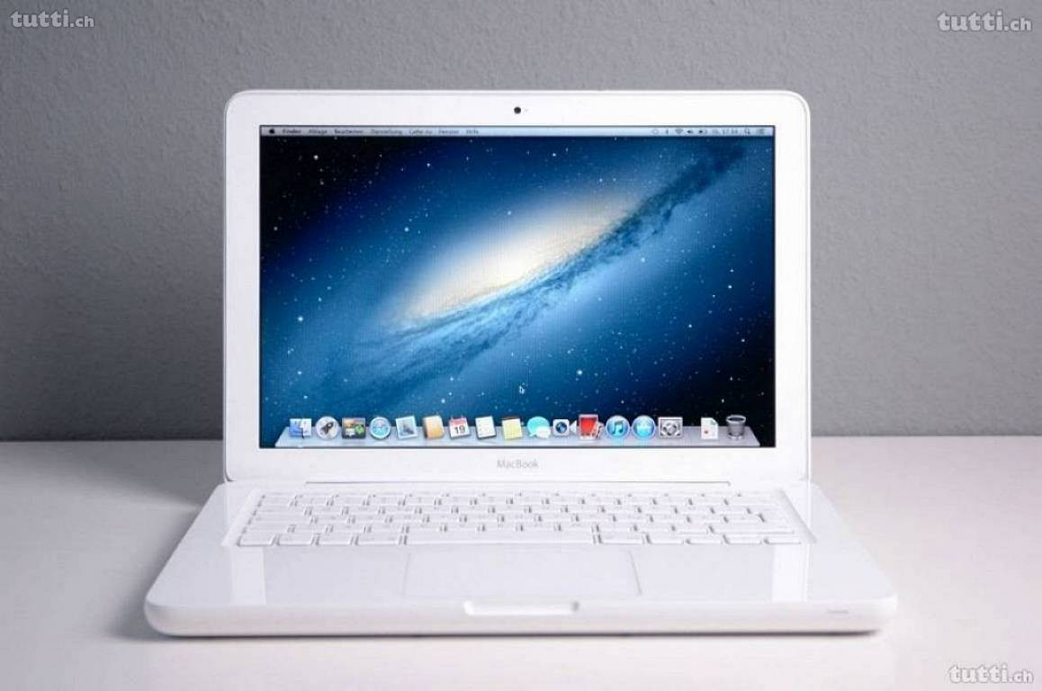 macbook 13 zoll weiss 320gb hdd digimac. Black Bedroom Furniture Sets. Home Design Ideas
